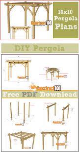 12x12 Floating Deck Plans by 10x10 Pergola Plans Pdf Download Pergola Plans Pergolas And