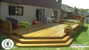 Deck Designing by Low Level Deck Designs Ground Level Deck Designs Large Deck Plans