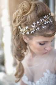 Winter Wedding Hair With Accessory