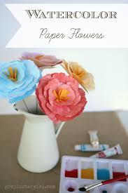 Handmade Watercolor Paper Flowers Tutorial