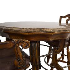 90% OFF - Ashley Furniture Ashley Furniture Faux Marble Pub Table And  Chairs / Tables