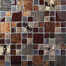 Accent Tiles For Kitchen Backsplash Special Carving Mosaic Accent Tile Brown Color Glass Wall Backsplash Tiles Gold Metal Kitchen Bath Walls Decor Tstfly16 10 Square