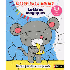 Nathan Coloriage Malin Lettres Magiques Petite Section Hourafr