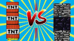 Minecraft TNT vs Obsidiana e Bedrock Vito