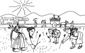 Cartoon Noir Et Blanc Illustration Du Caractère De LOccupation Du