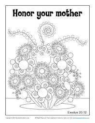 Honor Your Mother Coloring Page