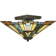 Quoizel Tiffany Style Floor Lamps by Quoizel Lighting Semi Flush Ceiling Lighting Style Traditional