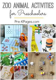 Zoo Activities For Preschoolers Fun Learning A Theme At Home Or In The Classroom With Preschool And Kindergarten Kids