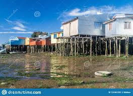 100 Houses In Chile Palafitos Stilt Castro Stock Image Image Of Wood