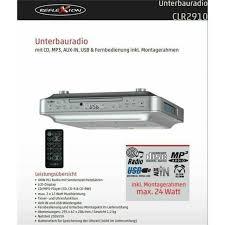 küchenunterbauradio clr 2910 mit cd mp3 usb aux in fernbedienung