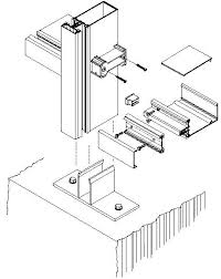 curtainwall 1600 jpg 439 552 kawneer exploded isometric at sill