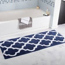 Bathroom Rug Runner 24x60 by Amazon Com Lavish Home 100 Cotton Trellis Bathroom Mat 24x60