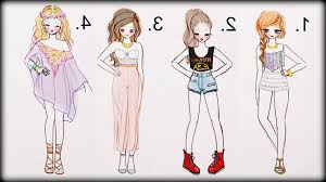 Easy To Draw Manga Girls Clothing Drawing Tutorial How 4 Summer Outfits