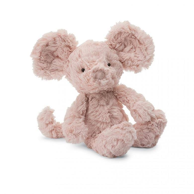 Jellycat Squiggle Mouse - Pink