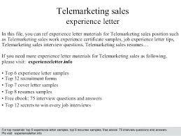 Resume Telemarketing Tips Telemarketer Sample Description