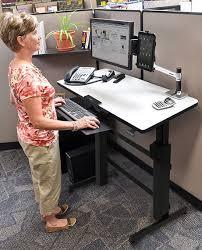 Ergotron Sit Stand Desk Manual by Ergotron 24 271 926 Workfit D Sit Stand Desk Light Grey