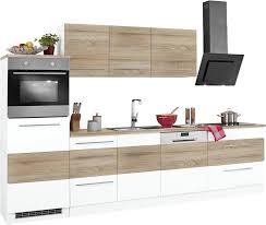 held möbel küchenzeile trient mit e geräten breite 300 cm mit stangengriffen aus metall kaufen otto