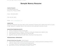 Resume Nanny Sample For Housekeeper Top Rated A