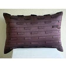 Amazon Handmade Plum Lumbar Pillow Cover Solid Color