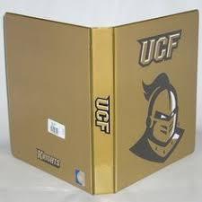 UCF Knights 1 Pictorial Looseleaf Binder Full Color Printing Gold Liner