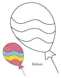 0 Level Balloon Coloring Page