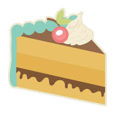 Piece Cake SVG cutting files for scrapbooking slice of cake svg cut file