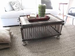 Wood Crate Coffee Table Awesome Tables And Side Scavenger Chic