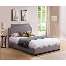 mantua brossard queen grey platform bed free shipping today