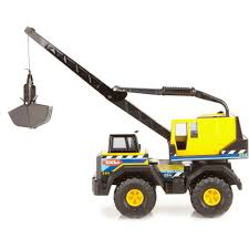 Funrise Tonka Steel Classic Mighty Crane Kids Construction Truck ...