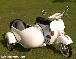 Vintage Vespa Piaggio Sidecar