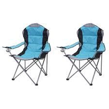2x cingstuhl hwc d66 anglerstuhl faltstuhl klappstuhl regiestuhl gepolstert blau