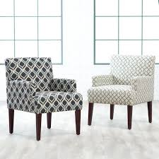 french script armchair accent arm chair with french script pattern
