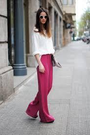 how to wear pink wide leg pants 9 looks women u0027s fashion