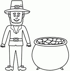 Cute Pictures In Gallery Leprechaun Coloring Pages To Print
