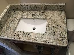 Single Sink Bathroom Vanity With Granite Top by Bathroom White Fantasy Premium Granite Bathroom Vanity Top With