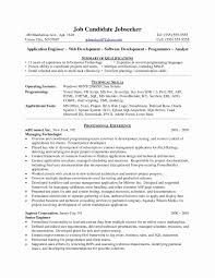 Sample Resume For Net Developer With 2 Year Experience New Asp