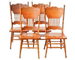 Country Style Oak Press Back Dining Chairs Windsor Room Furniture Jasmine