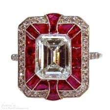 deco ruby and ring ruby deco jewelry deco ring and