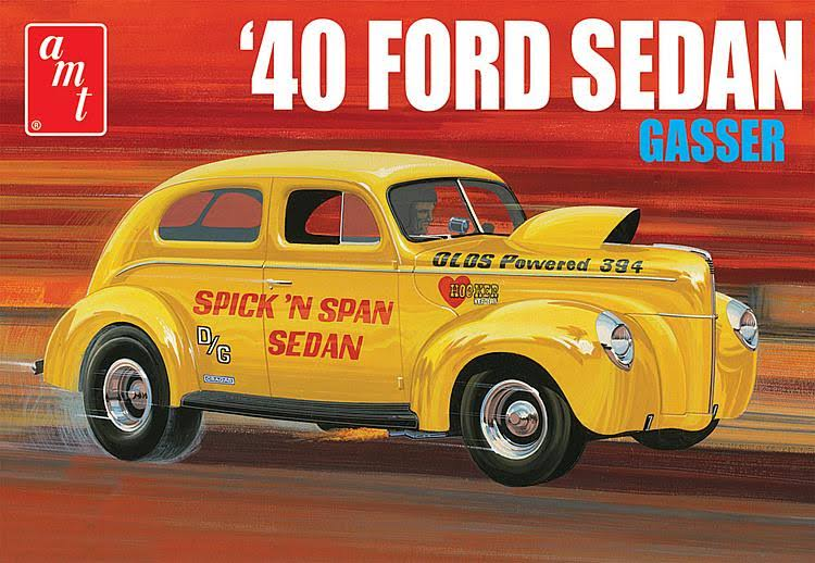 AMT 1940 Ford Sedan Plastic Model Kit - 1/25 Scale