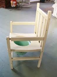 antique wooden potty chair chamber pot wood base enamel bowl