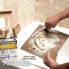 Polyblend Ceramic Tile Caulk Sanded by Matching Grout Colors And Caulk Colors Family Handyman