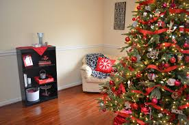Does Kohls Sell Artificial Christmas Trees by Holiday Living Room Tour Blog Hop One Artsy Mama