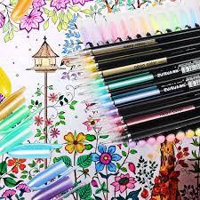 Incluye Purpurina 48 Colores Bolígrafos De Gel Para Colorear