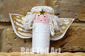 Toilet Paper Roll Angel Craft Materials