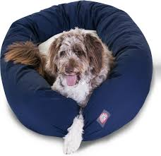 majestic pet sherpa bagel dog bed 52 inch blue chewy com
