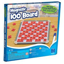 1 100 magnetic board tiles math set educational toys planet