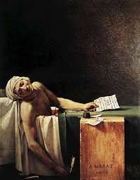 The Death Of Marat Oil Painting By Jacques Louis David 1793 In
