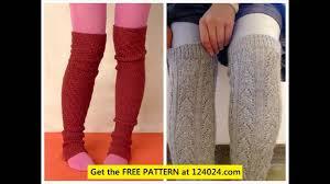 leg warmers knitting pattern youtube