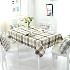 Tablecloths For Dining Room Tables Modern Cotton Linen Table Cloth Lattice Tablecloth Fiber