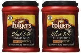 Fresh Taste Of Folgers Coffee Black Silk Flavored Ground Bold Yet Smooth